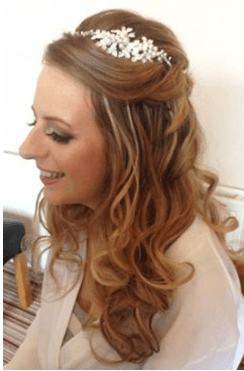 bridal hair half up half down curled wedding hair blog choosing your look