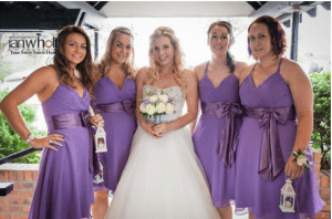 bridal party, bridesmaid hair and makeup, absolutely flawless