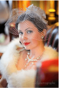 vintage wedding makeup, red lip