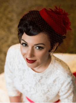 vintage wedding winter hair and makeup