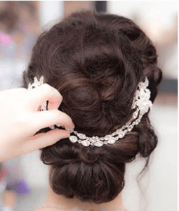 Bridal updo glitz and glam