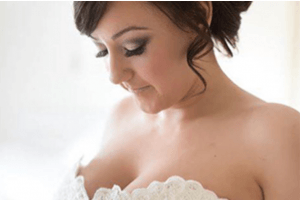 bridal smoky eye, flawless skin